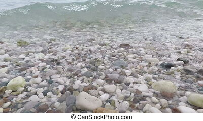 sea waves on shore of the Adriatic Sea - sea waves on the...