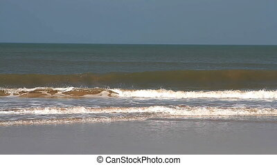 sea waves on the beach in Goa - Beautiful sea waves on the...