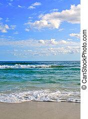 Sea waves on tropical beach