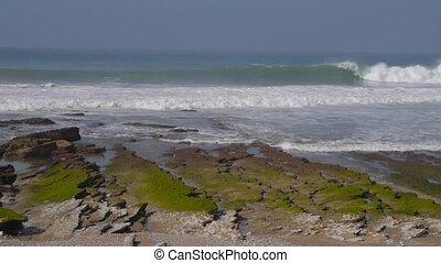 sea waves rocks, morocoo