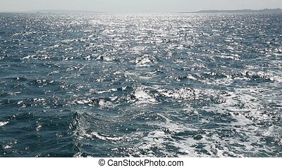 sea waves - shooting from boat