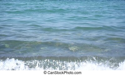 Sea Waves. Tide. - Sea waves in day. Tide. Close-up