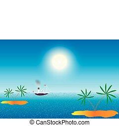 Sea with island