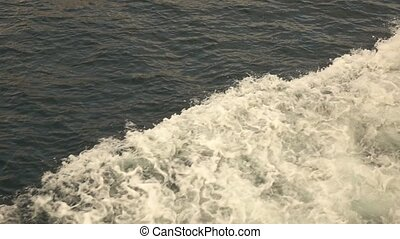 sea with waves and foam - view waves and foam in surface,...