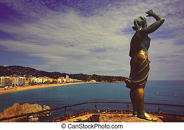 sea woman in Lloret de Mar Mujer Marinera - sea woman in ...