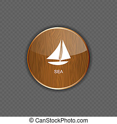 Sea wood  application icons vector illustration