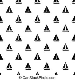 Sea yacht pattern, simple style