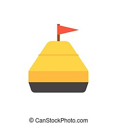 Sea Yellow Buoy - Yellow buoy vector illustration. Marine...
