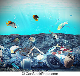 Seabed pollution - Pollution in the seabed because of humans