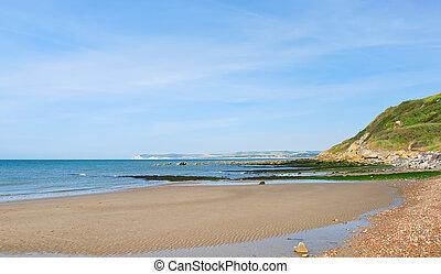 seacoast, av, engelsk, chanel, in, normandie