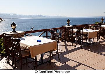 seacoast, ett slags tvåsittssoffa, restaurang