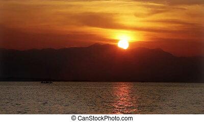 seacoast on a sunset. Indonesia. Bali