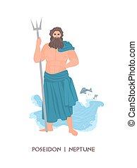 seafare, carácter, mar, deidad, antiguo, dios, mitológico...