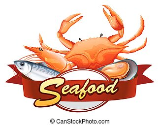 Seafood - All kind of seafood with red banner
