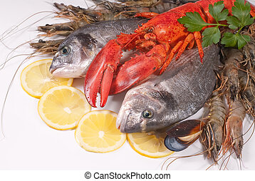 seafood at the seafood booth