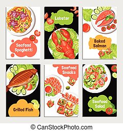 Seafood Cards Banners