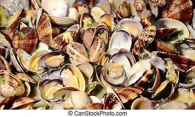 seafood, clams - italian food, clams