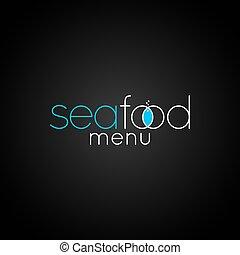 seafood fish logo design background