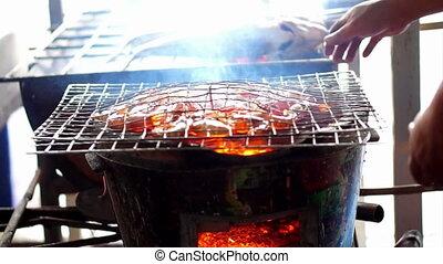 seafood grilled prawn, BBQ shrimp