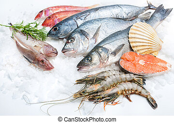 seafood, ijs