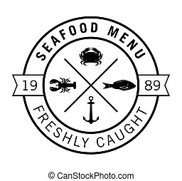 Seafood label badge