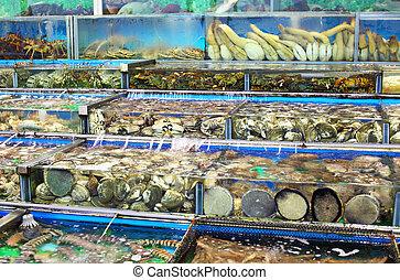 Seafood market in Hong Kong