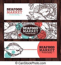 Seafood Market Sketch Design