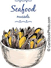 seafood., mussels.