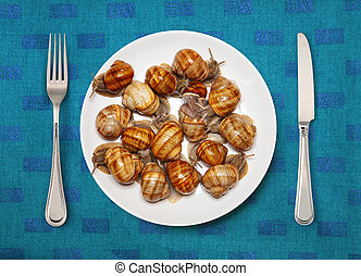 Seafood on a plate for cooking