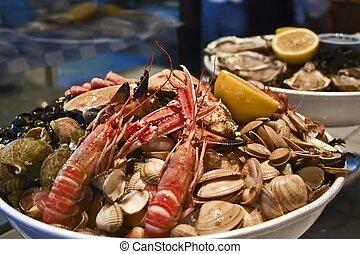 seafood plate - fish restaurant