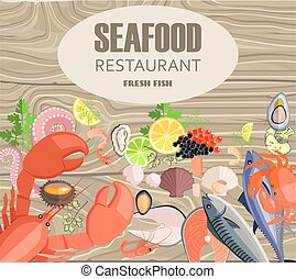 Seafood Restaurant with Meals Made of Fresh Fish