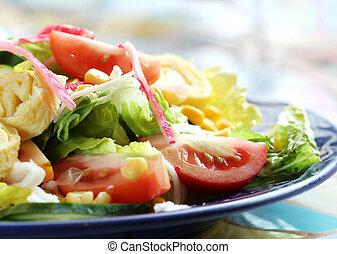 Seafood Salad - A Plate of Seafood Salad
