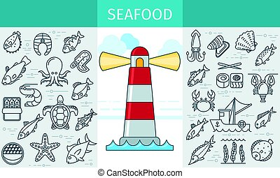 Seafood store banner