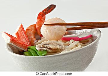 Seafood Udon Noodle Soup