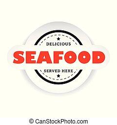 Seafood vintage stamp sign
