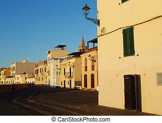 seafront, bastión, mediterráneo