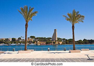 Seafront. Brindisi. Puglia. Italy.