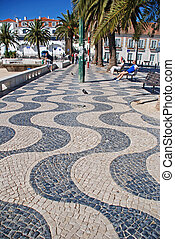 seafront in Cascais, Portugal
