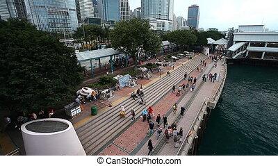 Seafront in Hong Kong - Star Ferry Pier Hong Kong HD 1080