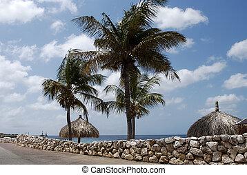 Seafront in Klarendijk, Bonaire - Seafront in the peaceful...