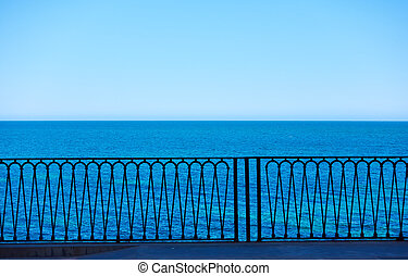 Seafront in Syracuse, Sicily Island, Italy -- Background...