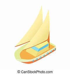 Seagoing vessel icon, cartoon style - Seagoing vessel icon ...