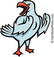 seagull-fighting-angry-MASCOT - Mascot icon illustration of...