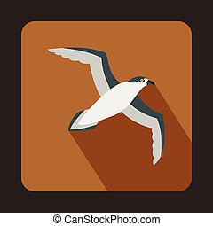Seagull icon, flat style