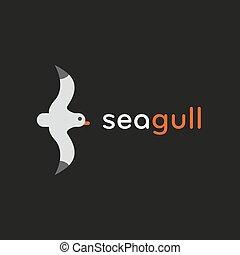 Seagull logo in stylish trend vector illustration icon flats
