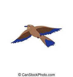 seagull vole, ciel, illustration