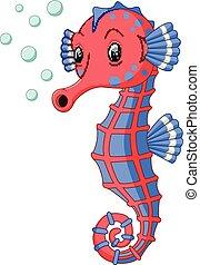 seahorse, cartone animato