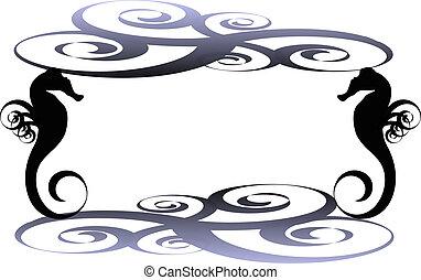 Seahorse frame