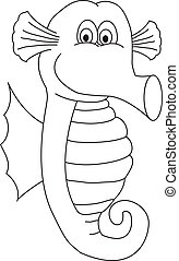 Seahorse line drawing