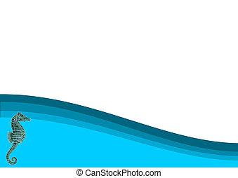 Seahorse Ocean Background